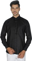 Shaurya f Formal Shirts (Men's) - Shaurya-F Men's Solid Formal Black Shirt