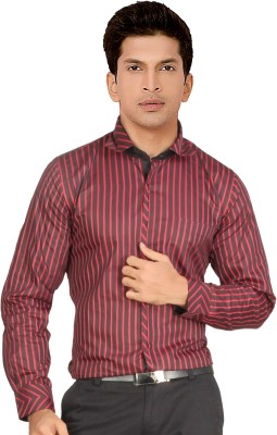 Red Country Men's Striped Casual Red Shirt