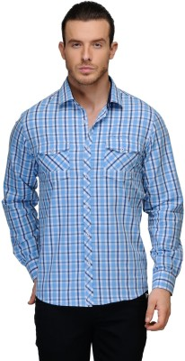 Canary London Men's Checkered Casual Blue Shirt