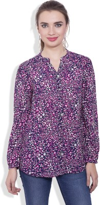 Pear Blossom Women's Animal Print Casual Multicolor Shirt