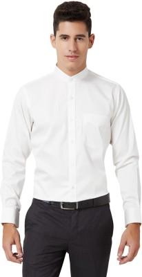 University of Oxford Men's Solid Formal White Shirt