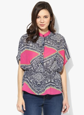 Popnetic Women's Printed Casual Multicolor Shirt