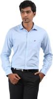 Stoff Formal Shirts (Men's) - Stoff Men's Solid Formal Blue Shirt