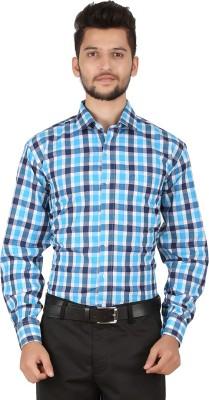 Stylo Shirt Men's Checkered Formal Blue Shirt