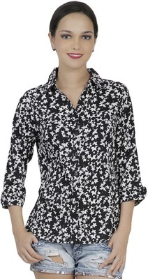 Mask Lifestyle Women,s Printed Casual Multicolor Shirt