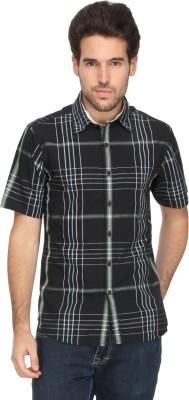 Denimlab Men's Checkered Casual Dark Green Shirt