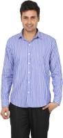 Adhaans Formal Shirts (Men's) - Adhaans Men's Striped Formal Blue Shirt