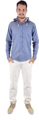 Shahanshah Enterprises Men's Solid Casual Blue Shirt
