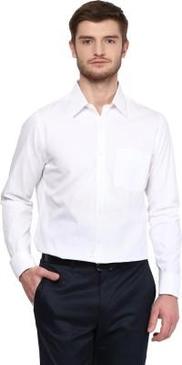 London Bridge Men's Solid Formal White Shirt