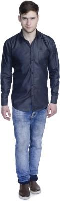 Aligatorr Men's Solid Formal Black Shirt
