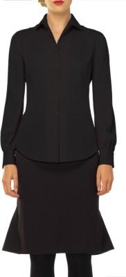 Mens World Women's Solid Formal Black Shirt