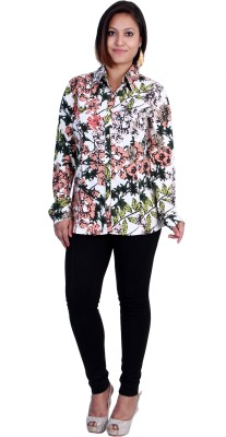 Rich Creations Women's Printed Casual Multicolor Shirt