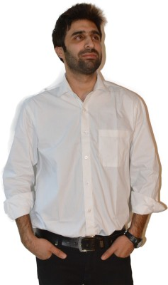 Fpc Creations Men's Solid Formal White Shirt