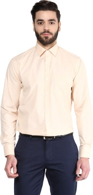 Urban Culture Men's Solid Formal Orange Shirt
