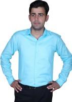 Royal Crown Formal Shirts (Men's) - Royal Crown Men's Solid Formal Blue Shirt