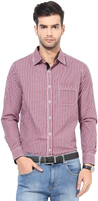 Silver Streak Men's Checkered Casual Red Shirt
