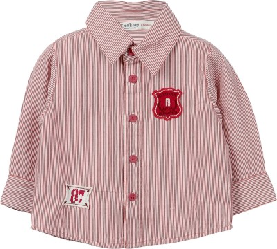 Beebay Boy's Striped Casual Red Shirt