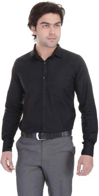 Lee Mark Men's Solid Formal Black Shirt
