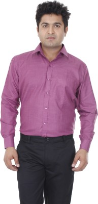Aces Blue Men's Solid Casual Pink Shirt