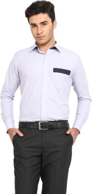 Protext Men,s Solid Casual Blue Shirt