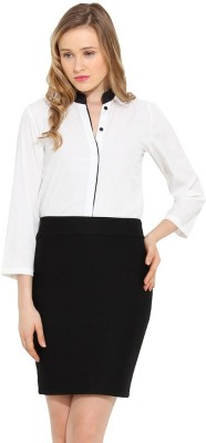 Trend Arrest Women's Solid Casual White Shirt