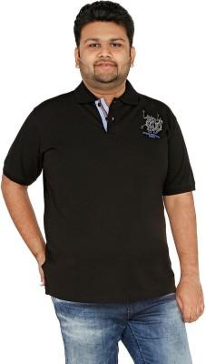 CIROCO Solid Men,s Polo Neck Black T-Shirt