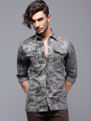 Roadster Men's Solid Casual Grey Shirt