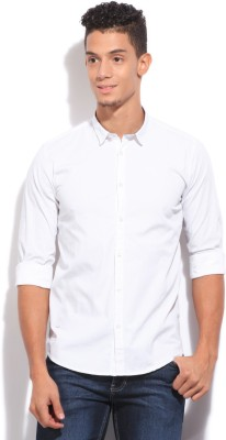 Pepe Jeans Men's Solid Casual White Shirt