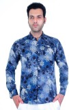 Success Men's Printed Casual Blue Shirt