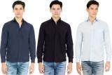 Elegant Men's Solid Casual Blue, Black, ...