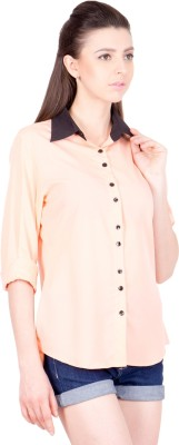 Crosstitch Women's Solid Party Pink, Orange Shirt