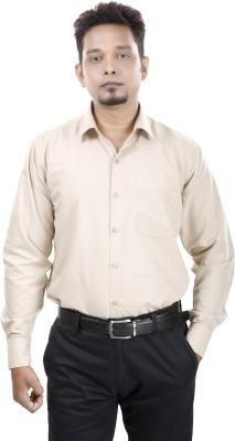 Bellavita Men,s Solid Formal Brown Shirt