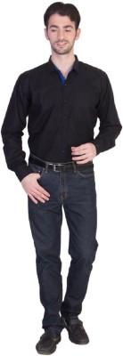 Yachna Desigen Men's Solid Casual Reversible Black Shirt