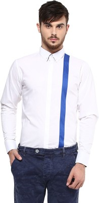 Marcello And Ferri Men's Solid Formal White Shirt