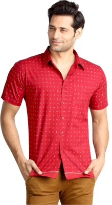 London Bee Men's Printed Casual Red Shirt