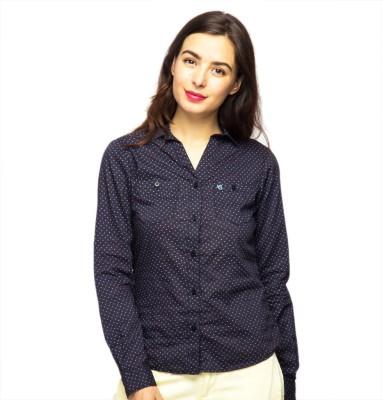 American Swan Women's Printed Casual Purple Shirt