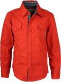 Joshua Tree Boys Solid Casual Red Shirt