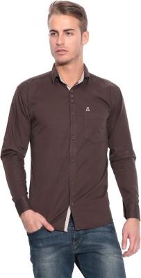 Pazel Men's Solid Casual Brown Shirt