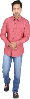 Tasho Zaara Men's Solid Casual Red Shirt