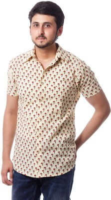 ERBE Men,s Printed Casual Beige Shirt