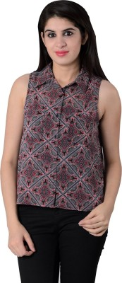 House of Tantrums Women's Printed Casual Multicolor Shirt