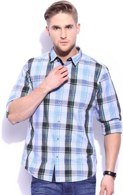 Mast & Harbour Men's Checkered Casual Multicolor Shirt