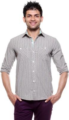 Tog Men's Checkered Casual Beige, Black Shirt