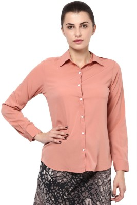Protext Women's Solid Formal Pink Shirt at flipkart