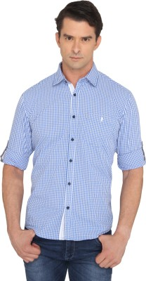 Donear NXG Men's Checkered Casual Blue Shirt