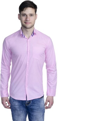 Aligatorr Men's Solid Formal Pink Shirt