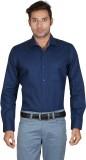 Don Vino Men's Solid, Printed Casual Blu...