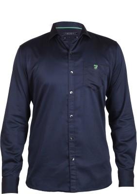 Hash Luxury Men,s Solid Party Black Shirt