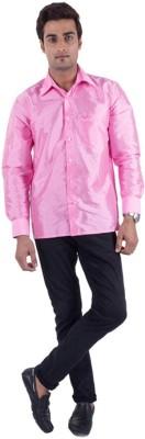 Warrior Men's Solid Casual Pink Shirt