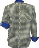 Darium Men's Checkered Casual Blue, Yell...